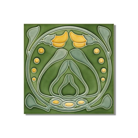 Art Nouveau wall tile F88 by Golem GmbH