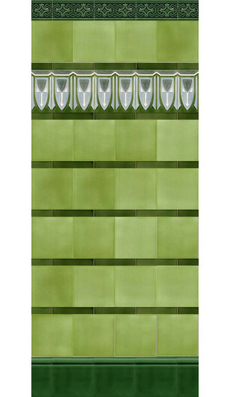 Art Nouveau wall tile F56 de Golem GmbH