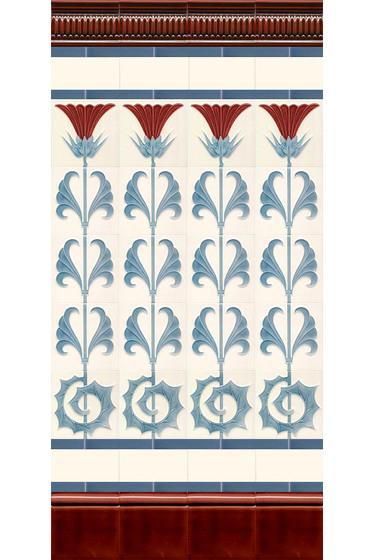 Art Nouveau wall tile F53a.V1 di Golem GmbH