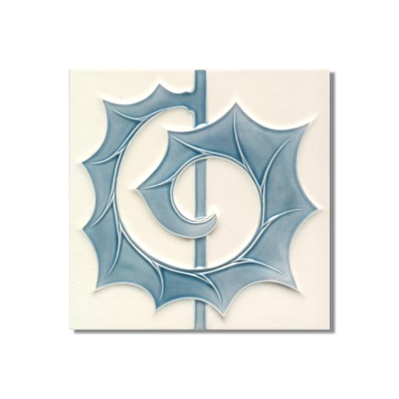 Art Nouveau wall tile F53b.V1 by Golem GmbH