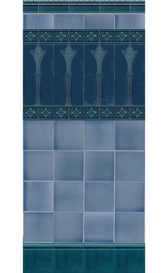 Art Nouveau wall tile F30a by Golem GmbH