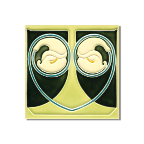 Art Nouveau wall tile F17.V2 by Golem GmbH