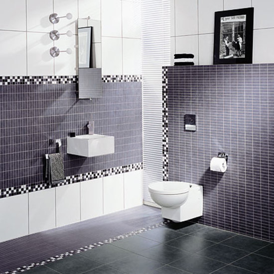 Mosaic Classic blue glossy 30x30 by steuler|design