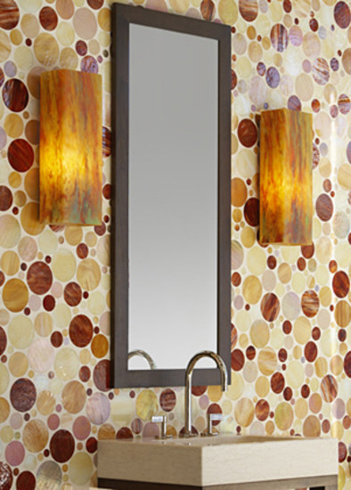 Ovals glass mosaic di Ann Sacks