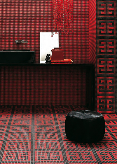 Key Red mosaic by Bisazza