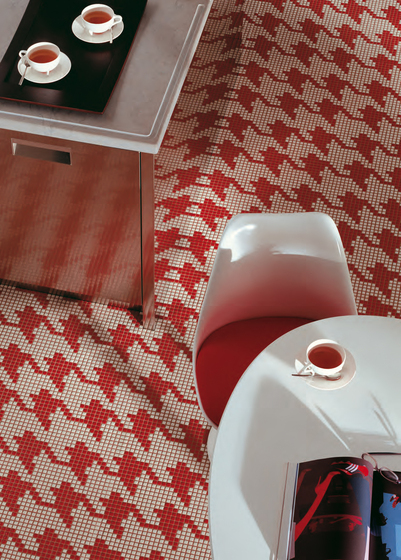 Pied de Poule Rosso mosaic by Bisazza