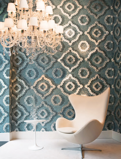 Velvet White mosaic by Bisazza
