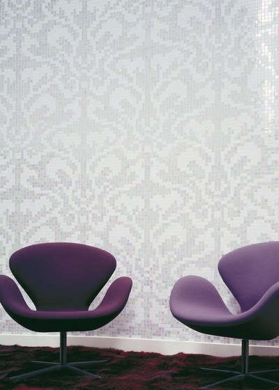 Damasco Black mosaic by Bisazza