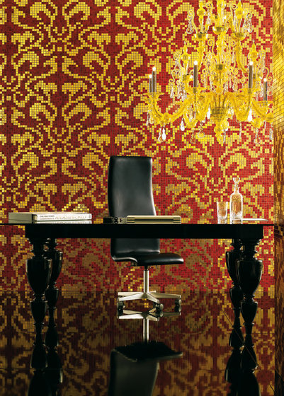 Damasco Oro Giallo mosaic by Bisazza