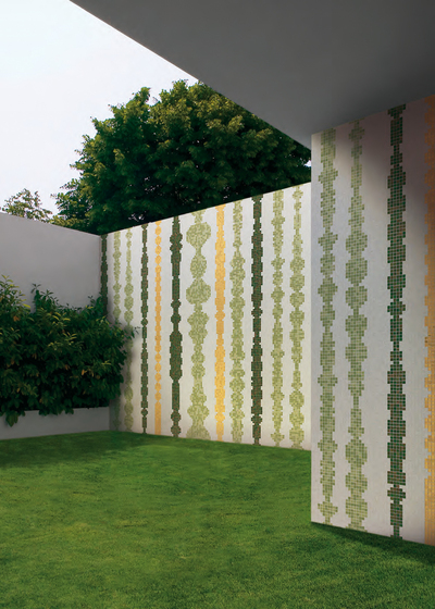Columns Green B mosaic by Bisazza
