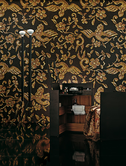 China Birds Brown mosaic di Bisazza