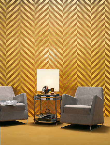 Twill Oro Giallo mosaic by Bisazza