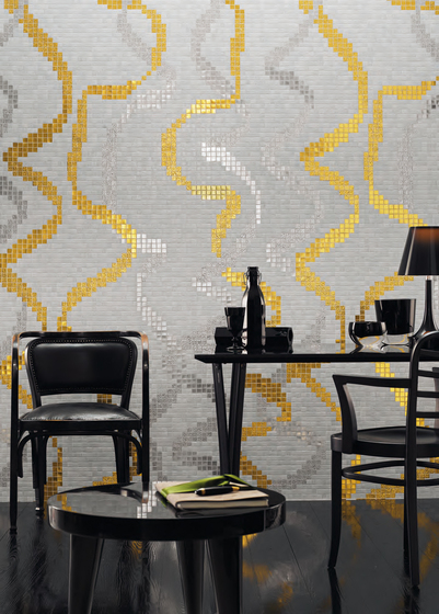 Festoon mosaic by Bisazza