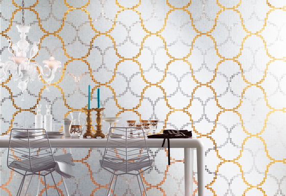 Liaisons Bianco mosaic by Bisazza