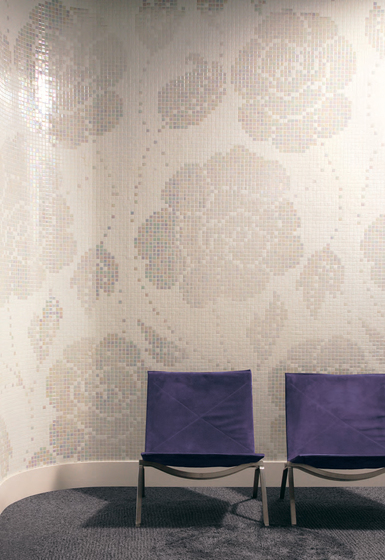 Winter Flowers Oro Bianco mosaic by Bisazza
