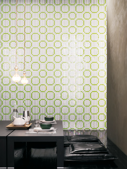 Rings Green mosaic by Bisazza