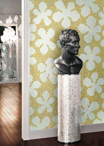 Glass Flowers New Pink mosaic by Bisazza