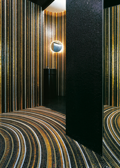 Stripes Winter mosaic di Bisazza