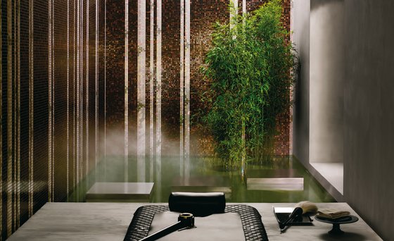 Bamboo White A mosaic by Bisazza