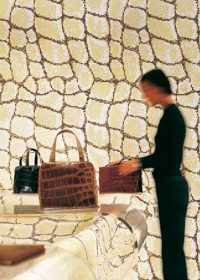 Python mosaic by Bisazza