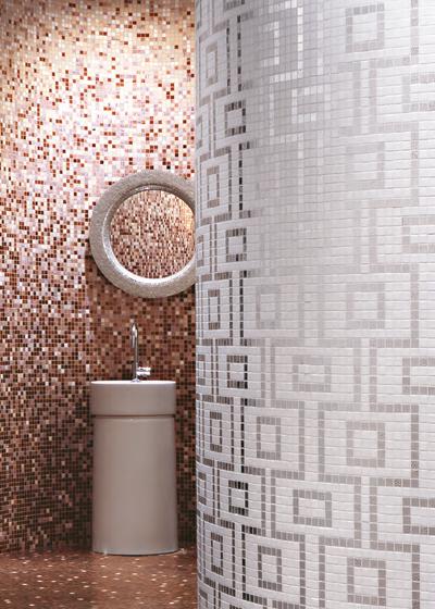 Labirinto Nero mosaic by Bisazza