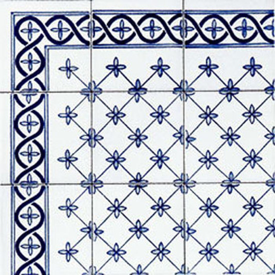 Palmettina Blu 10x10 von Giovanni De Maio