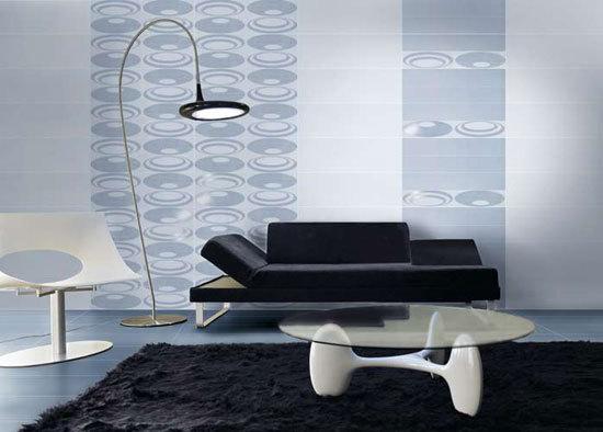 Hypnosis White/Black 72x24cm by Ceramiche Settecento