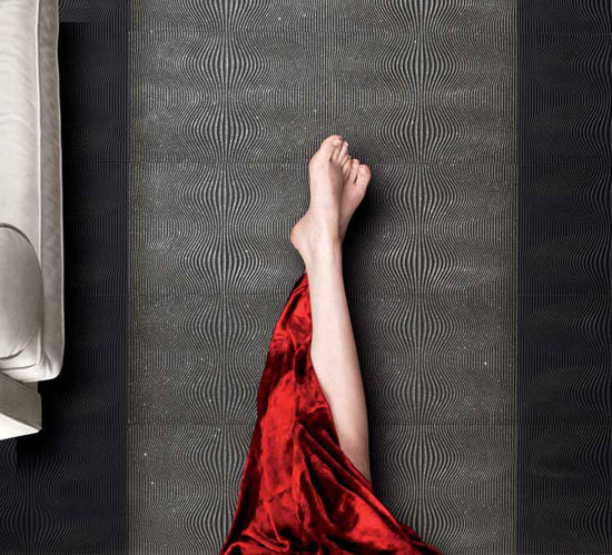 Chinoise Nero su Bianco 31.9x96cm by Ceramiche Settecento