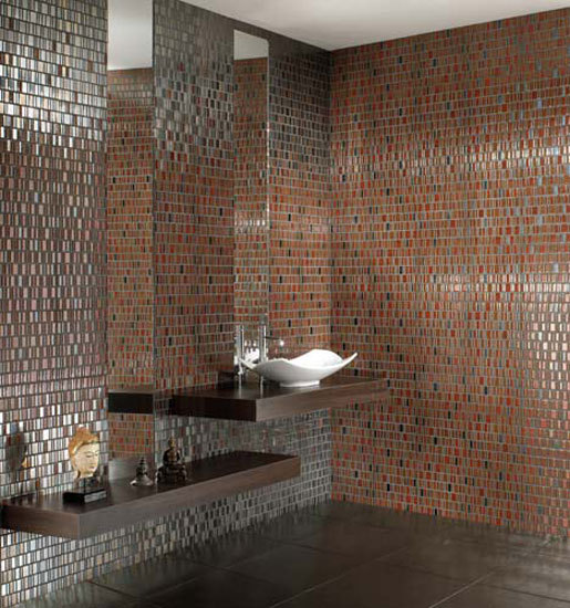 Low Metal Orange 30x30 de Ceramiche Settecento