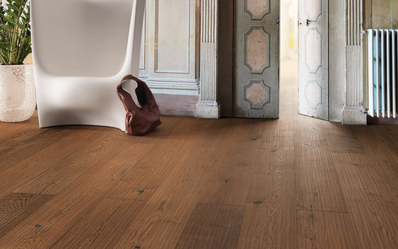 mafi OAK Country Vulcano wide-plank Riva Mezzo. brushed  |  white oil by mafi