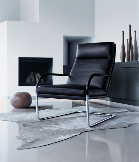 George Lounge Footstool & Armchair by Walter Knoll
