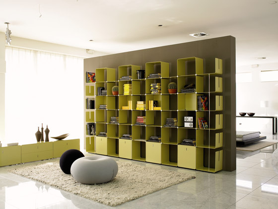 cWave | Bookcases with 3 drawers H 2223 mm de Dieffebi