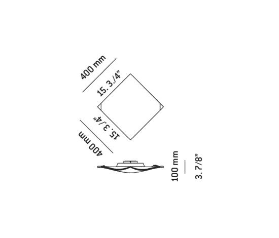 bent t-2752 | t-2752F | t-2752L flushmount by Estiluz