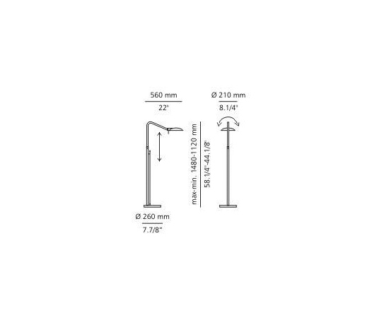 p-1062L | p-1062 floor lamp by Estiluz