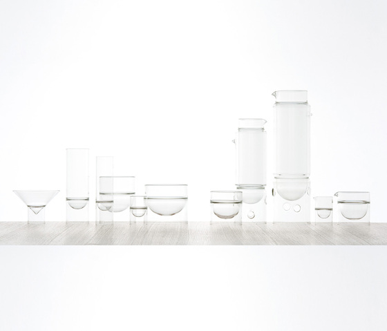 float glassware | sugar/cream by molo