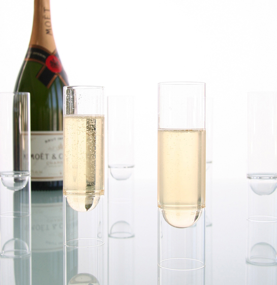 float glassware | champagne flutes by molo