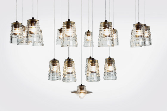 Pressed Glass Light Top by Tom Dixon