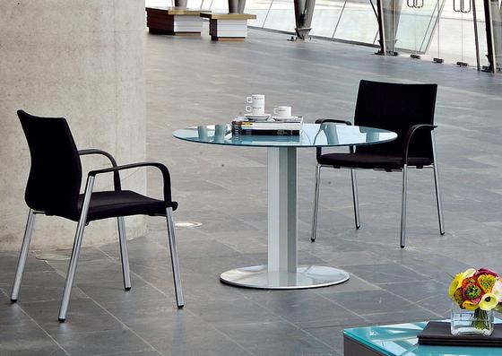 Circular base table by actiu