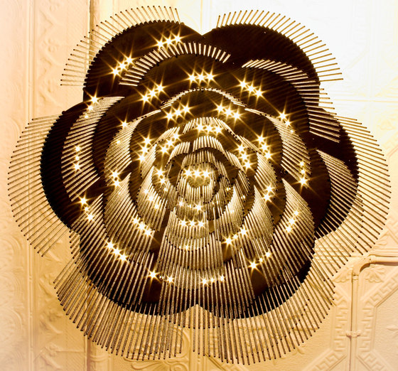 Rose - 700 - ceiling mounted - straight by Willowlamp