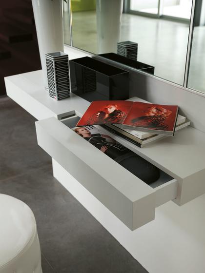 consolle mensola con cassetto tesia 120 cm porada design