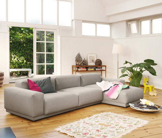 Place Sofa 3-seater chaise longue configuration by Vitra