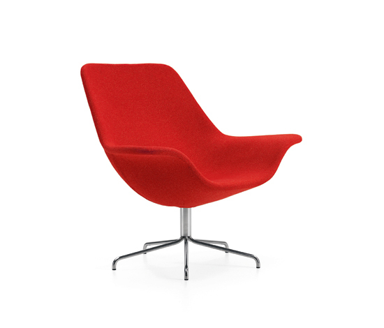 Oyster easy chair/footstool de OFFECCT