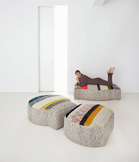 Mangas Original Pouf Caramelo MP1N Natural 4 di GAN