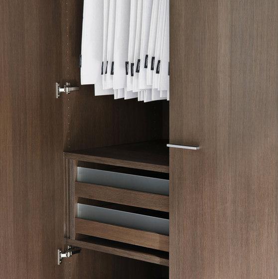 Legno interior closet storage system by raumplus