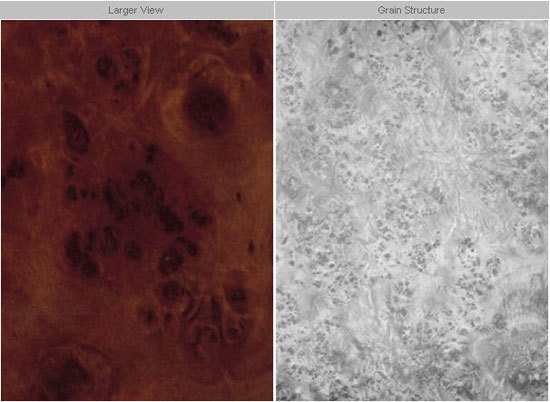 F2559 Mahogany Burl Composite Panels From Formica