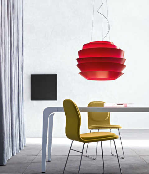 Le Soleil suspension red by Foscarini