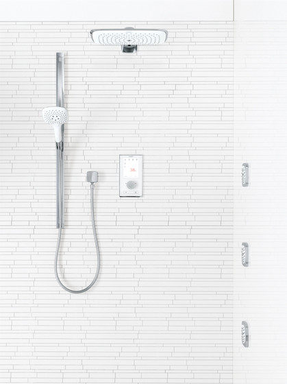 hansgrohe Single lever basin mixer for concealed installation with spout 165 mm wall-mounted by Hansgrohe