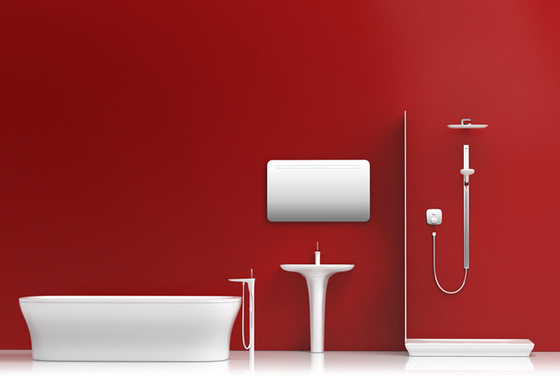 hansgrohe Electronic basin mixer with temperature control battery-operated by Hansgrohe