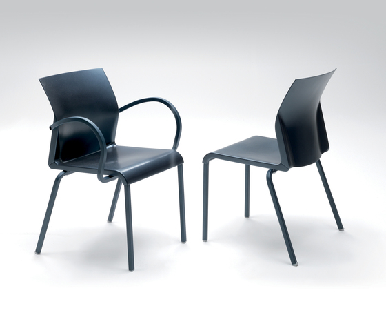 Iron Stacking Arm Chair by Segis