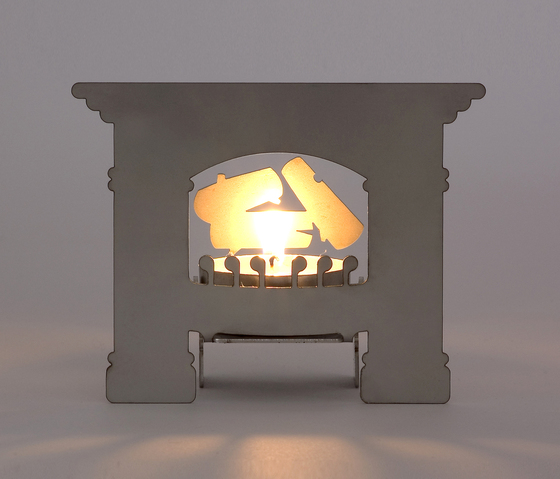 Mikrokamin (Micro Fireplace) by MOVISI